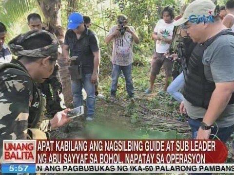 UB: 4 kabilang ang nagsilbing guide at sub leader ng ASG sa Bohol, napatay sa operasyon