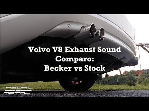 Volvo V8 Exhaust Sound Comparo: Becker vs Stock | Sound Clips as Requested