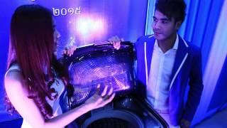 Miss Mean Sonyta and Mr Chhorn Sovanareach Show Samsung Activ Dual Wash