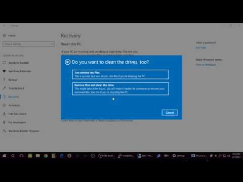 Microsoft Windows 10 - Recovery And Resetting Your PC Tutorial