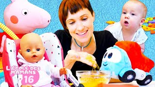 Ecole des mamans no 16. Vidéos de baby born pour les filles. Peppa fait à manger