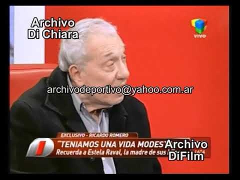 Ex Marido Ricardo Romero Recuerda A Estela Raval 2012 DiFilm
