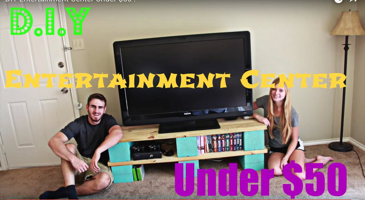 Diy Entertainment Center Under 50 Youtube
