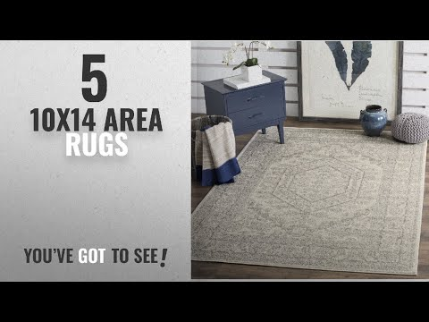 Top 10 10X14 Area Rugs [2018 ]: Safavieh Adirondack Collection ADR108B Ivory And Silver Oriental