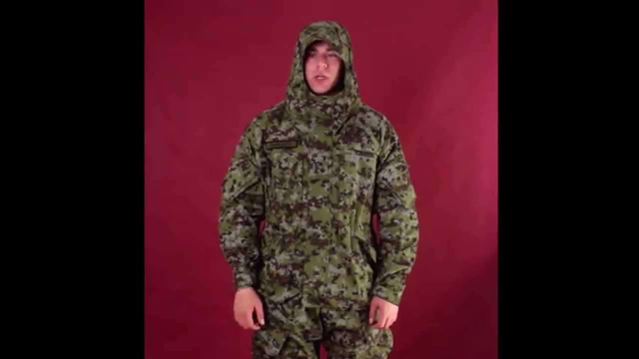 Студийный обзор костюма Горка из ткани рип-стоп цвета A-Tacs FG .