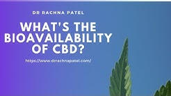 What's the Bioavailability of CBD?
