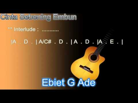 Chord Ebiet G Ade Cinta Sebening Embun Kord Gitar Ebiet Lagu dan Lirik