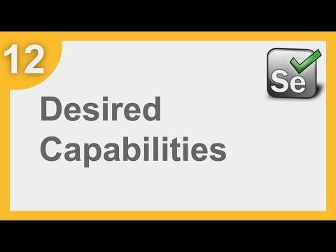 Selenium Framework For Beginners 12   What Is Desired Capabilities   How To Add Desired Capabilities
