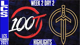 100 vs GG Highlights | LCS Summer 2021 W2D2 | 100 Thieves vs Golden Guardians