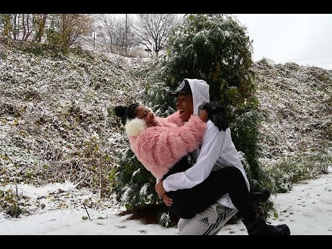 "OUR FIRST ""REAL"" SNOW DAY TOGETHER 