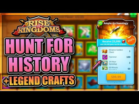 Crafting Legendaries & Hunt for History in Rise of Kingdoms [plx special talents]