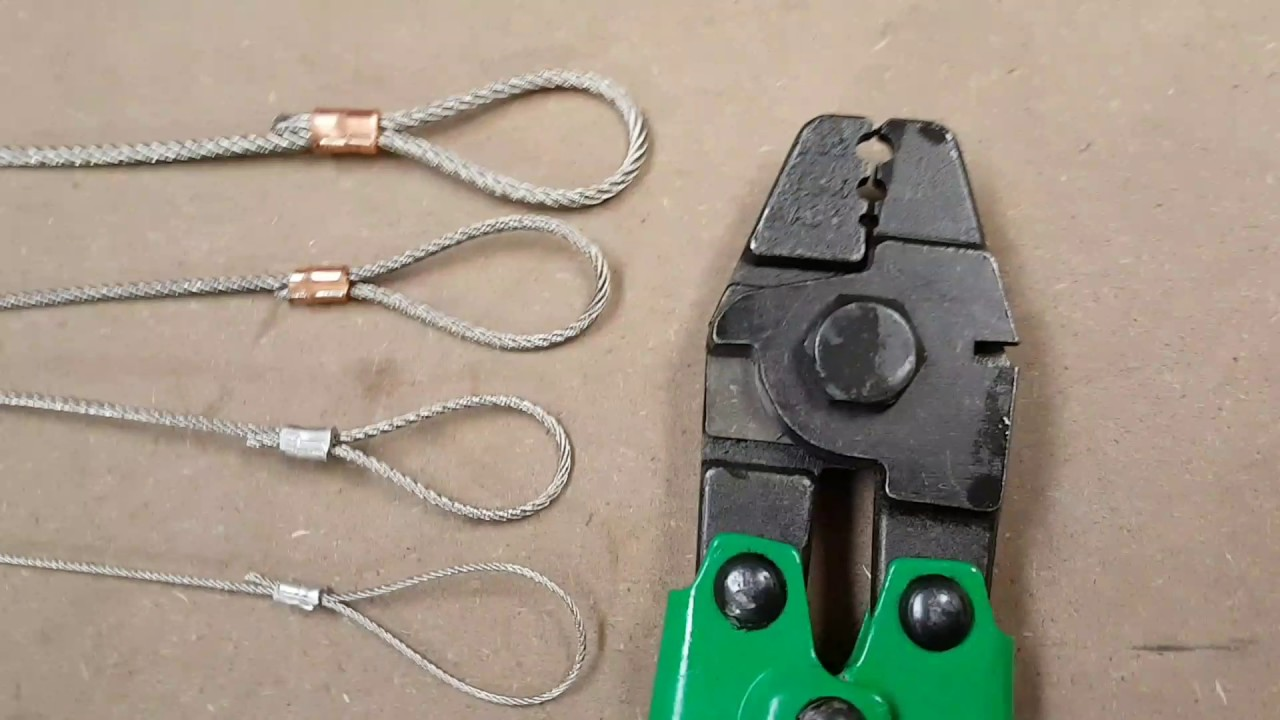 Steel Wire Rope Mini Crimping Tool 1mm 1.5mm 2mm 2.5mm - YouTube