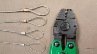 Çelik Tel Halat Mini Sıkma Aracı 1 mm 1.5 mm 2 mm 2.5 mm
