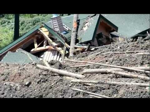 Landslide Johnsons Landing BC - TMTV RAW HD FOOTAGE