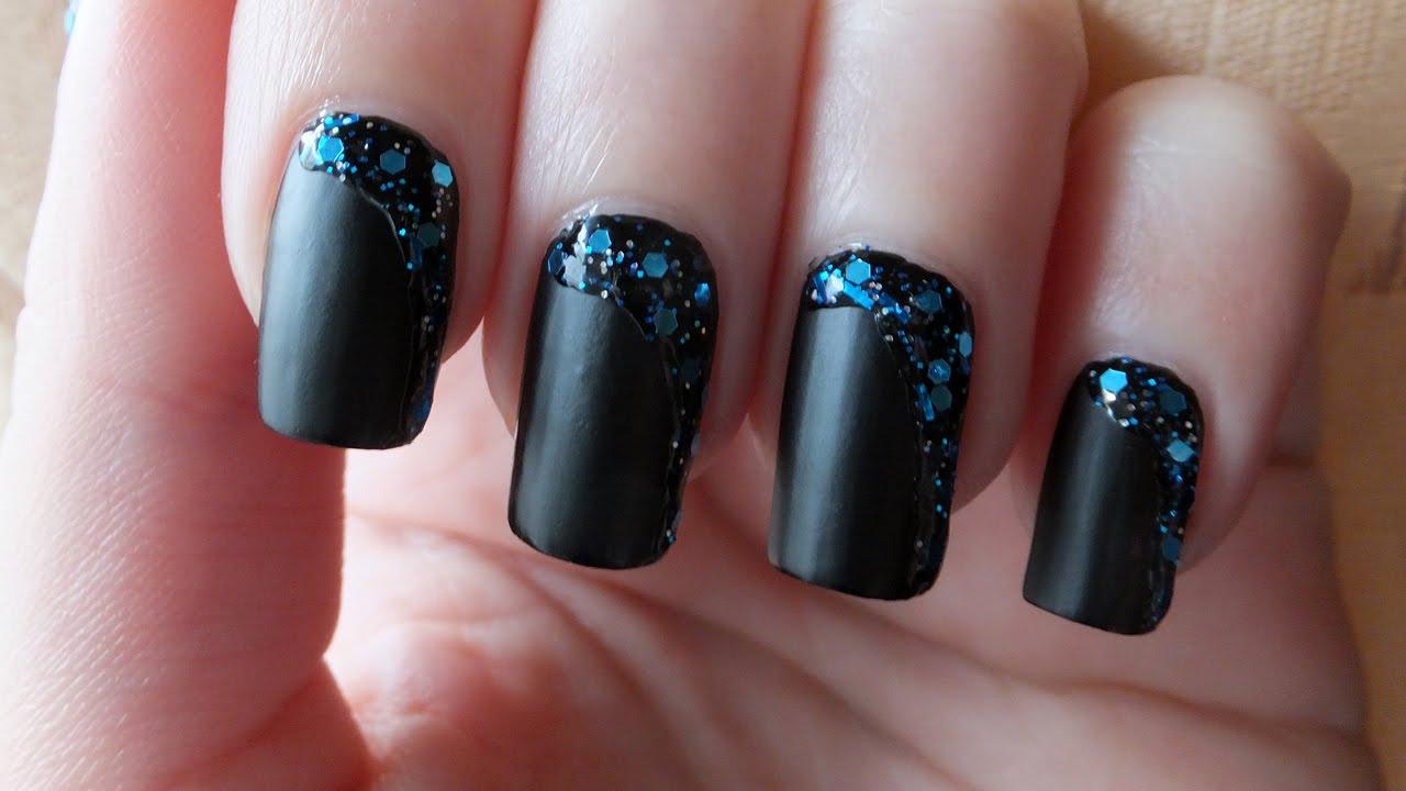 Black Glitter Nail Designs Wwwtopsimagescom