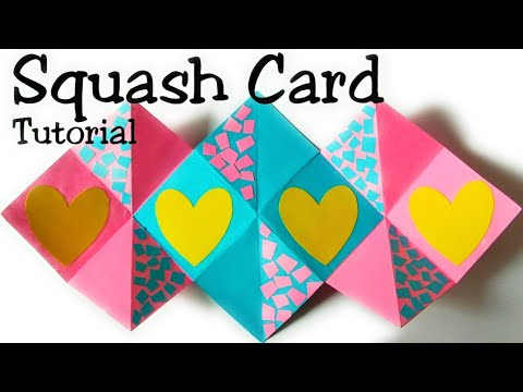 Squash card tutorial with subtitles in english || easy DIY || Crafting colors
