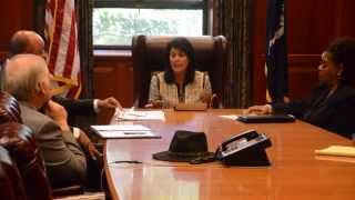 Gov. Haley meets with delegation from S.C. State