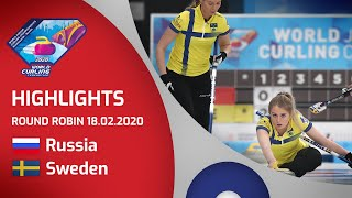 HIGHLIGHTS: Russia v Sweden - Women's round robin - World Junior Curling Championships 2020