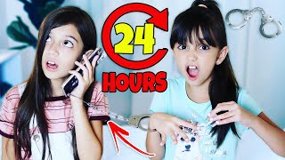 HANDCUFFED to my SISTER for 24 HOURS Challenge