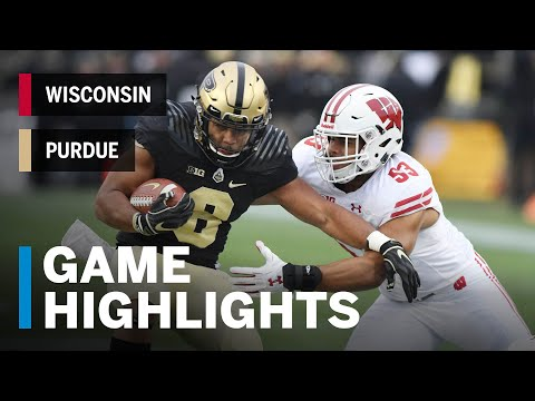 Highlights: Wisconsin at Purdue | Big Ten Football