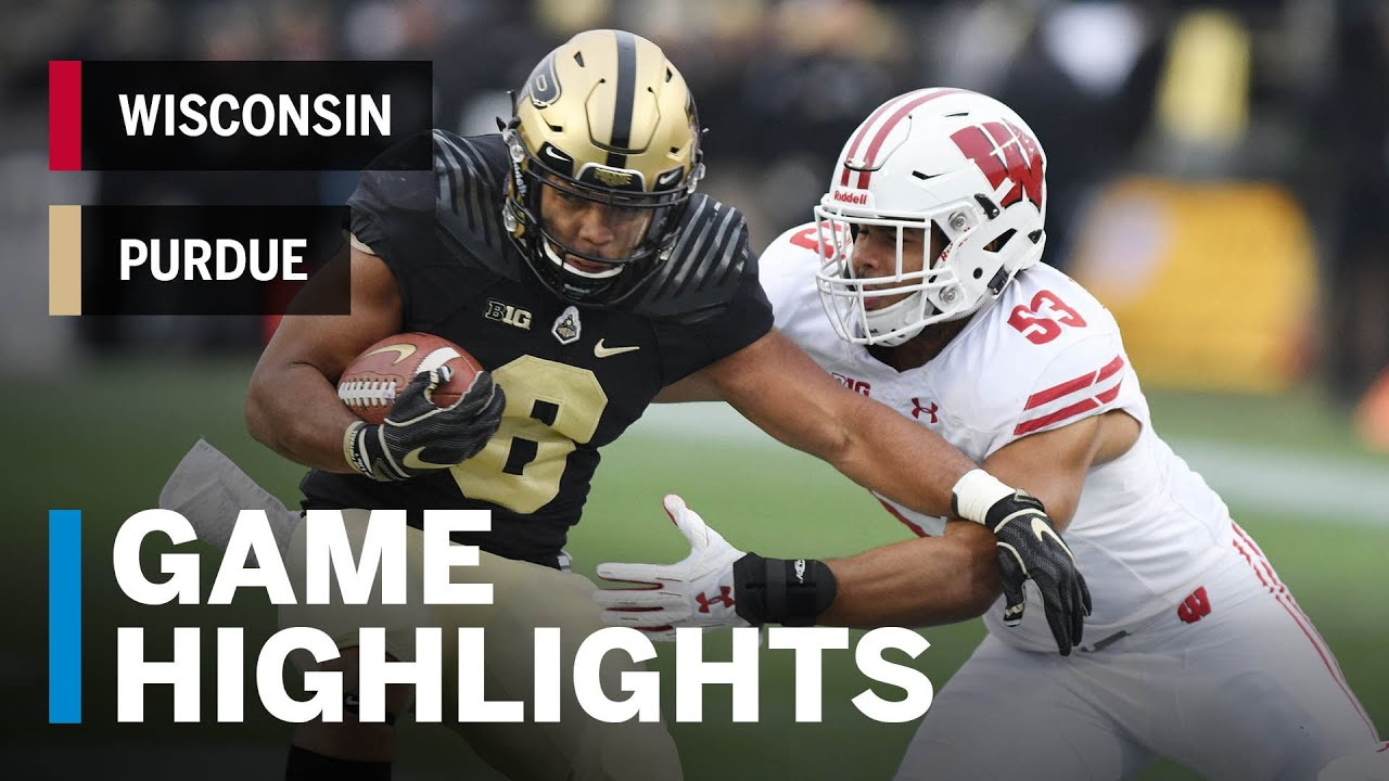 Highlights Wisconsin At Purdue Big Ten Football Youtube