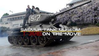 T-34/85 Moving out - Saumur Tank Museum - Musée des blindés de Saumur