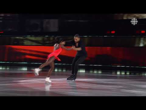 Vanessa James & Akim Aliu In Battle Of The Blades, Nov 2020