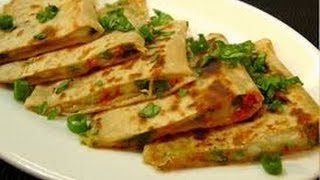 Pizza Paratha Recipe Indian Veg Brunch breakfast recipes and kids lunch box snack idea