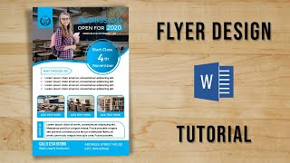 How to design a clean & modern Flyer in MS Word 2019