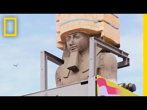 Giant Ramses II Statue Moved to Grand Egyptian Museum | National Geographic