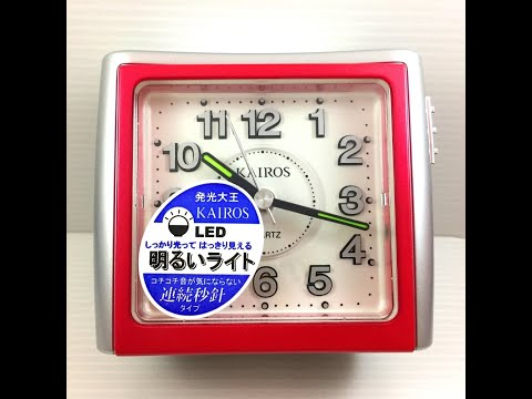 凱樂時 KAIROS KA-702 方型鬧鐘 LED小燈 靜音 掃秒 鬧鈴試聽
