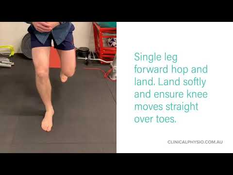 Ankle and Knee Stability and Landing Exercises