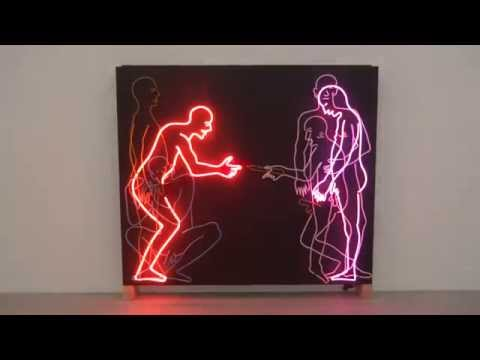 """Sex and Death"" by Bruce Nauman, Vienna, Austria, April 2014"