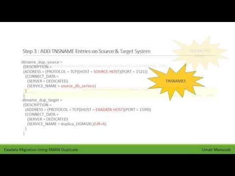 Migrate Database To Exadata Using RMAN Duplicate