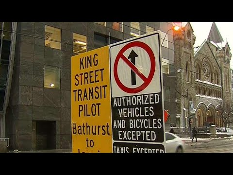 King Street Pilot Project sign confusion