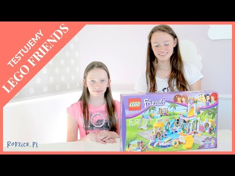 Testujemy Klocki Lego Friends Letni Basen Heartlake 41313 Youtube