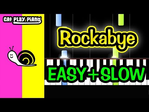 Rockabye - Piano Tutorial Easy SLOW + Free Sheet Music PDF - Clean Bandit