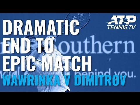 Dramatic End to EPIC Wawrinka v Dimitrov Match 😱   Cincinnati 2019
