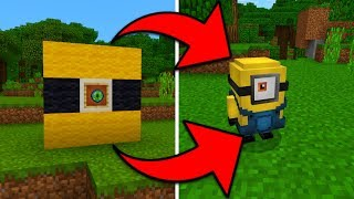 How To Spawn Minions in Minecraft Pocket Edition (Minion Addon)
