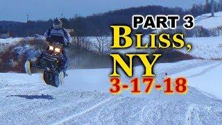 Bliss, NY LAST RIDE OF SEASON 3-17-18: PART 3