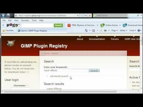 Install Gimp & the LayerFX Script