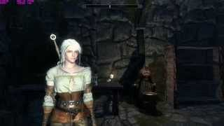 WITCHER 3 Ciri playable in SKYRIM (Nude support)