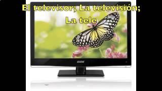 Испанский Видео словарь  с субтитрами тема ГОСТИНАЯ Vocabulario уроки испанского языка
