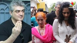 Thala Ajith registers vote with his Mother and wife Shalini   Tamil Nadu Election 2016