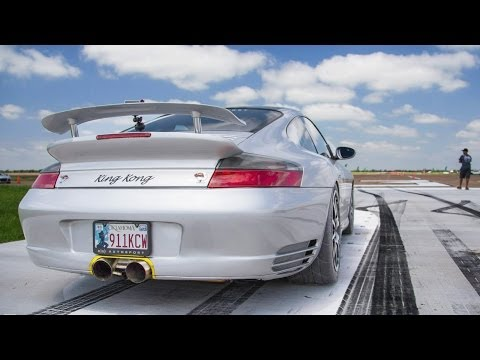 KING KONG 1300hp TT Porsche  Spinout @ 180MPH!!!