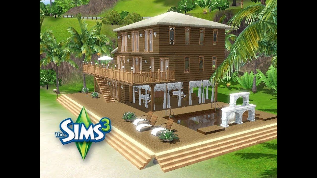 sims 3 haus bauen let 39 s build gro z giges ferienhaus auf kleinem grundst ck am meer 30 x. Black Bedroom Furniture Sets. Home Design Ideas