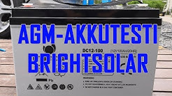 AKKUTESTI: Brightsolar DC12-100Ah AGM VS. Exide EM900 x 4