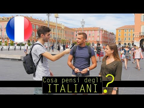 """""""Cosa i francesi pensano degli italiani ?"""" Domande a Nizza -thepillow"""