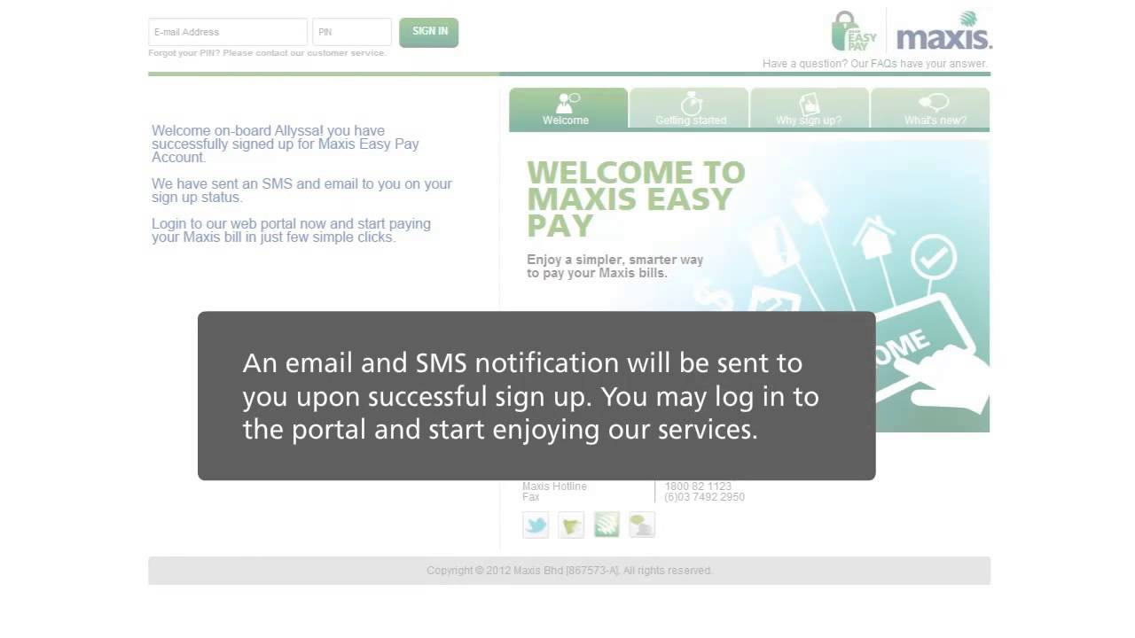 Maxis Easy Pay Tutorial Video