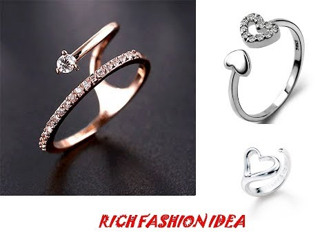 Latest Stylish Beautiful Silver Rings Collection For Women